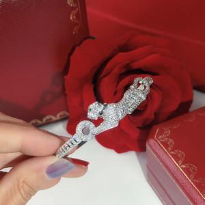 Il diamante pieno Prepotente personalità di trasporto delle donne del braccialetto di caldo Seiko Danza libera Bracciale regali che danno i braccialetti del leopardo di lusso