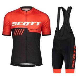 2020 New Style Pro Team SCOTT respirável bicicleta Roupa de bicicleta Roupa 3 Rear Pockets verão respirável de secagem rápida Ciclismo Jersey Set Y04192