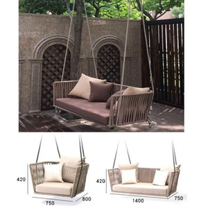 Fashion swing Sofa chair indoor outdoor adult rattan chair rocking single double courtyard swing Indoor Furniture