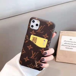 New Luxury Designer Phone Cases for IPhone 11 Pro Max 7 8plus XS XR PU Leather Classic Soft Edge Fashion Mobile Phone Protection Cover