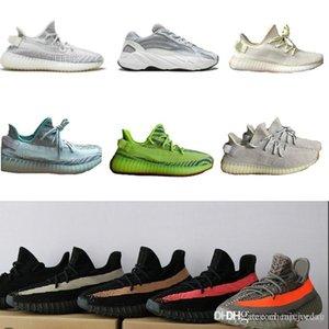 Nouveau Static Refective Butter bleu étain semi-surgelé Beluga 2.0 Zebra de race Kanye West Running Chaussures hommes baskets formateurs Chaussures