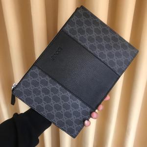 2019 hommes de qualité supérieure sacs épissures de gaufrage Lettre d'embrayage sac en cuir véritable mode sacs à main sac bandoulière sac à main sacs à main des femmes 5-32