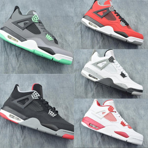 Good Quality 4 Green Glow Toro Bravo Man Designer Basketball Shoes Comfort IV Red White Black Cement Grey Fashion Sports Sneakers With Box