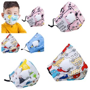 Reusable Kids Face Mask with Air Valve and Filter plate Dust mask Travel windproof Riding mask breathable Designer Masks T2I51018