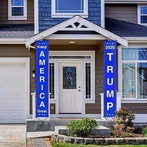Amerika Trump 2020 Flag 2ST 1 Paar Couplet 2020 Trump Blau-Tür-Fenster Hängen Couplet Hauptdekor Hängen Donald Trump Banner DHL