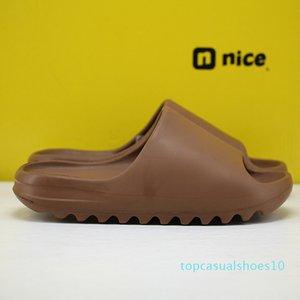 2020 Designer mens shoes Stock X Kanye West Slide womens Luxury Slippers Resin Bone Childrens Shoes Foam Runner Black New Kids Slippers t10