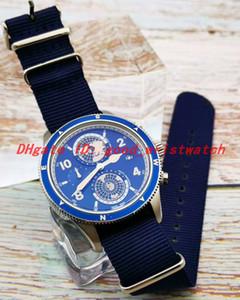 Vender bien Reloj para hombre Reloj de pulsera con caja de acero Cuarzo Movimiento de cronómetro multifunción Correa de nylon color múltiple montre de luxe