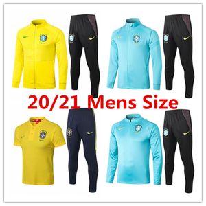 2020 Brazil mens jacket polo shirt Coutinho football kits Jesus 20 21 long short sleeve tracksuit soccer Firmino Brazilian training suit