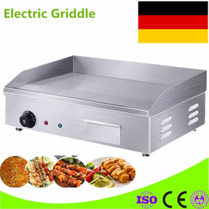High Quality 220V Counter Top Electric Griddle Flat Plate Grill Stainless Steel Electric Griddle For Restaurant Kitchen