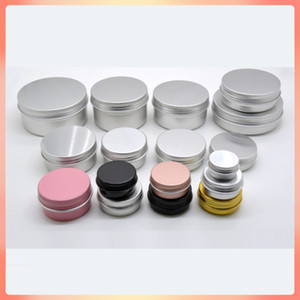 50pcs lot 10g 15g 30g 40g 50g 60g Colorful Cosmetic Aluminum Jars Pink Black Gold Personal Care Cream Mask Soap Packaging Container Pots