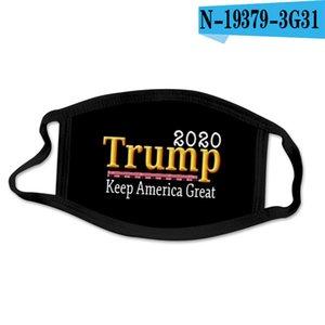 2020 Новый Дональд Трамп Дизайнер Luxury Многоразовый моющийся Хлопок Ткань моды Рот маска США Женщина Мужчины Unisex 17 Styles DHL голодает корабль фольксваген