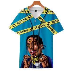 Летняя мода Мужчины Женщины футболки ASAP Rocky 3D Printed с коротким рукавом Смешные футболки Streetwear Hip Hop Tee Shirt Baseball Джерси