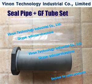(1set) 3.056.595 Erodieren Dichtungsrohr + GF verdickten Rohrsatz für Sodic AQ560L Drahterodieren Maschine EDM Seal-Behälter zusammengebaut mit Schrumpfschlauch-Set