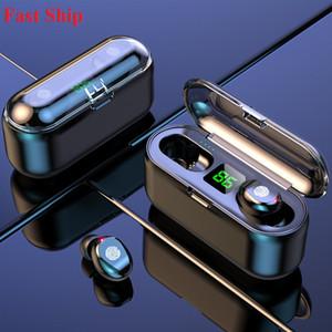 Hot Led Affichage avec 2000mAh Power Bank charge Casques d'écoute sans fil écouteurs Bluetooth Case V5.0 F9 TWS Designer Écouteurs Oreillettes