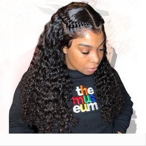 360 Lace Frontal Wig Water Wave malaysian virgin Hair Wigs with Baby Hair 180% Full Wig