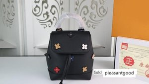 Women genuine leather flower Backpacks Style handbags Shoulder Bags 53079 size 16*19.4*10