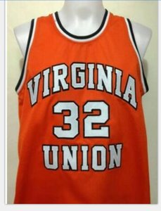 Custom Men Youth women Vintage #32 Ben Wallace Virginia Union University basketball Jersey Size S-5XL or custom any name or number jersey