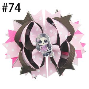 30pcs libre d'expédition 4,5 « » inspiré des arcs de cheveux de poupée populaires boucles pour les cheveux fille accessoires avec clips fille boutique clips cheveux