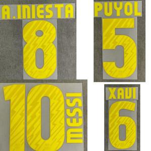 2010-2011 Messi Nameset A.Iniesta Xavi David Villa Puyol Printing iron On Transfer Patch Badge