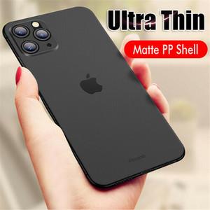 Super antidétonantes Soft Case pour iPhone 11 Pro Max Xs X Ultra Thin Slim 0.3mm Matte dur de couverture de peau