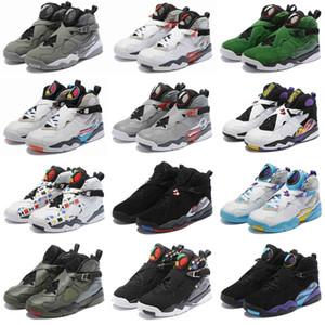 2019 Raid Blanc Aqua Rouge 8 VII 8s Hommes Retro Chaussures de basket-ball jour de 3M Reflective Valentine Chrome COUNTDOWN PACK mens sport Chaussures de sport 7-13