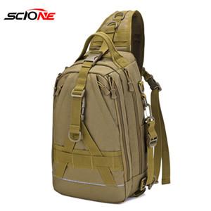 600D Nylon Multifunctional Bags Tackle Handbag Fish Gear Reel Lure Fishing Bag Shoulder Storage Pack Mochila Sac De Peche XA55G