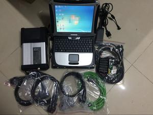 Stella eccellente di mb C5 Sd collegare c5 compatta Per Mercdes auto / camion con sd vediam / X / dts 03-2020 HDD con CF19 4G kit completo Laptop