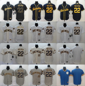2020 nouvelle Milwaukee 22 Christian Yelich Jersey 19 maillot de baseball Robin Yount