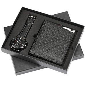 Traje de regalo para hombre Reloj de pulsera de embalaje exquisito + Traje de billetera Traje combinado de originalidad Grupo NIce