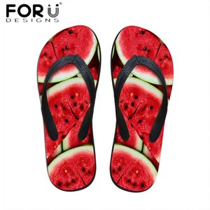 FORUDESIGNS Fruits 3D Printing Women Summer Beach Slippers Light Weight Rubber Flip Flops for Ladies Girls Casual Sandals Shoes