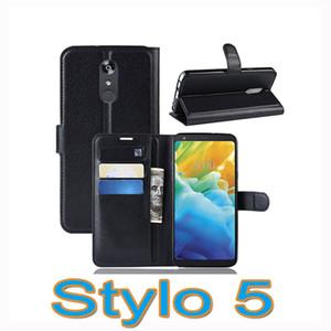 Etui portefeuille en cuir de luxe avec titulaire de carte pour LG Stylo 5 K40 Aristo 2 X Power 3 Q7 G8