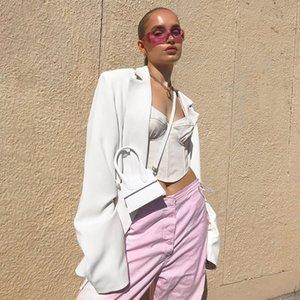 Giacca casual doppio petto Blazer a maniche lunghe Loose Women Coat 2020 Autunno Inverno Femminile Streetwear Over Size Inoltre Abbigliamento