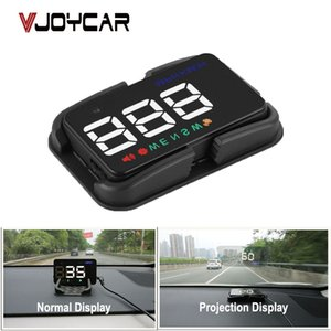 ar Electrónica Head-Up Display HUD coche universal GPS Speedo del velocímetro Head Up Display digital A5 largo de velocidad Alerta Windshiel ...