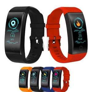 QW18 الذكية سوار ضغط الدم الأوكسجين في الدم رصد معدل ضربات القلب ووتش IP67 للماء للياقة البدنية المقتفي الرياضة ساعة اليد للحصول على الروبوت فون