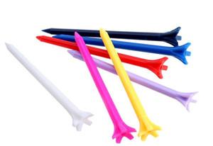Zero Fricção 5 Prong 70mm Plástico tees de golfe Multi Color Plastic Tees De Golfe Spike Acessórios de golfe pico