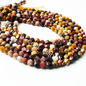 10 Vertentes Atacado Estrelas corte facetada Mookaite Nugget Beads 6-12mm multicoloridas Genuine Gems Natural Mookaite Jasper solta pérolas Diamond Cut