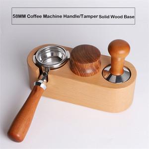 القهوة تصفية العبث حامل الخشب الصلب اسبرسو العبث مات حامل الة لصنع قاعدة دعم الرف القهوة زينة للباريستا T200523