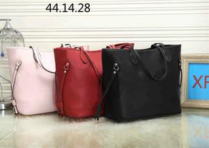 2020 Sale L Brief Leder-Handtasche schwarz rosa Tasche Druck Purse Damenmode Taschen Mädchen Einkaufstasche Top-Qualität rot