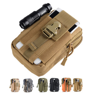 Tactical Pouch Molle Hunting Bags Belt Waist Bag Sports Pack Outdoor Pouches Phone Case Pocket for Iphone 7