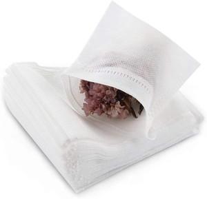 100pcs / pack de filtres jetables thé sacs vides coton Seal Sacs à cordonnet Filtre de thé pour Loose Leaf Teal