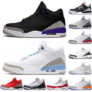Nike air jordan Retro 3 3s Мужчины Баскетбол обувь оптом Chaussures Чикаго черный Cement Светоотражающие Тинкер NRG Katrina Мужские Кроссовки спортивные Кроссовки