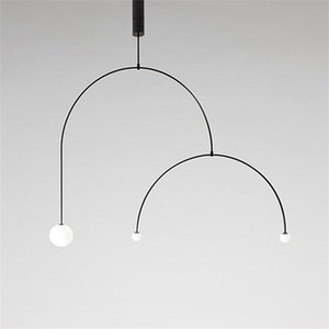 Art Decor Chandelier Designer Balance Ferro longo Chandelier Lamp Scandinavian pós-moderna criativa Sala lâmpada Quarto Pendant