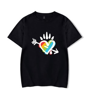 LGBT Printed Short Sleed Summer Shirt Round Fashion Round Neck Loose Opendent Tees Designer Mens Women Clothing
