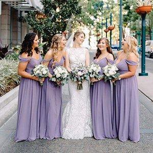 Bridesmaid group evening dress long Chiffon sisters long skirt show thin off shoulder Bridesmaid Dress