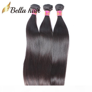 9A Peruvian Virgin Human Hair Bundles Silky Straight Weaves Human Hair Weft Extensions 3pc Double Weft Natural color Bella Hair