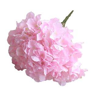 The New Yiwu Factory Wholesale Cheap Silk Artificial Hydrangea Bouquet Flower For Wedding Decoration Live Plastic Hydrangea Flower Bouquet