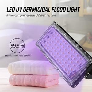 50W LED Taşkın Işık antiseptik Ana UV lambası Işık Ozon Sterilizasyon Dezenfeksiyon Ultraviyole öldür Toz Bakteri Akar Öldürücü