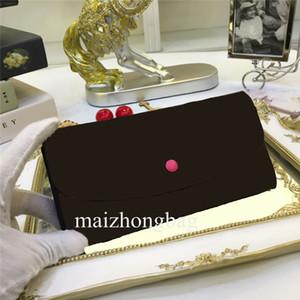 EMILIE M61289 # кошелек Пряжка женщин бумажник сумки розовый боб длинный бумажник коричневый цвет натуральная кожа тотализатор сцепления