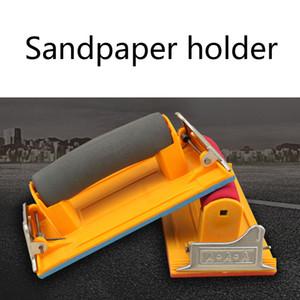 Haufen Holzbearbeitungsmaschinen Teile Schmirgelpapier Halter mit Schwamm Griff Clamp Hand Sander Sand Brett Holzverarbeitung Holzschnitzerei Wandfläche P ...