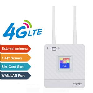 2.4G 4G LTE Wifi Router CPE Router Soporte para 20 usuarios con ranura para tarjeta SIM Wirelss con cable